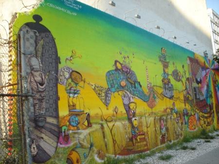 Os Gemeos Mural, August 2009