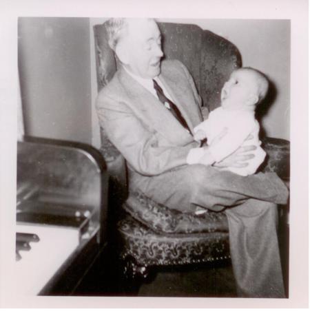 With my Grandpa White, singing.