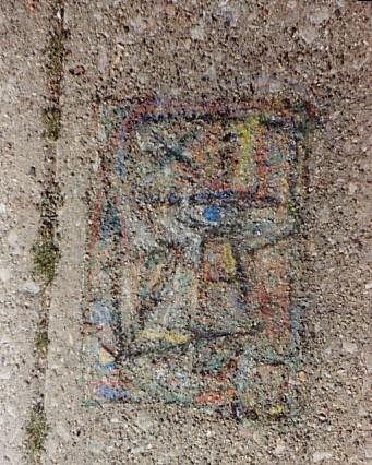 A fading Sidewalk Drawiing.