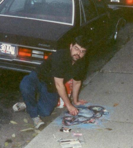 At work, circa 1980's.