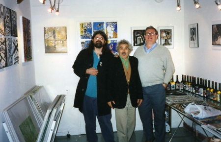I'm on the left, Jaber is center. Paris, September 1996. Photo by Jacques Karamanoukian.